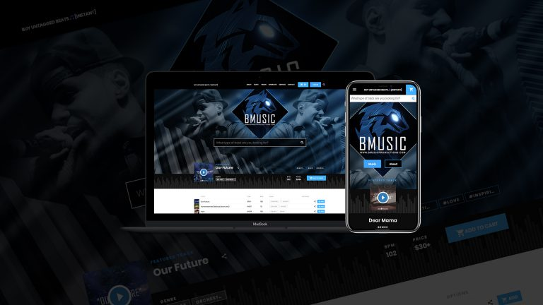 BeatStars Pro Page Layout Design for Music Artist - Bmusicthumbnail